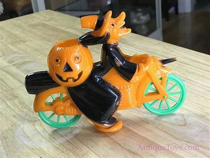 Plastic Witch Toy Motorcycle Halloween Pumpkin Rosbro