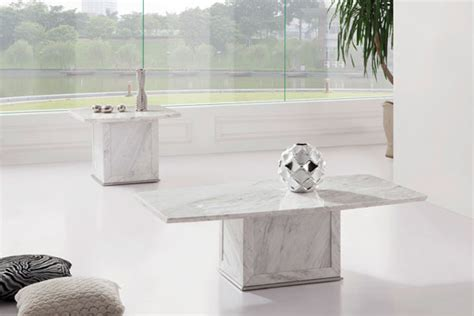 zeus white grey marble coffee table