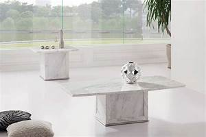 zeus white grey marble coffee table With white and grey marble coffee table