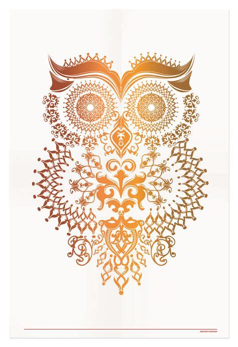 tshirt owl owl illustration narani kannan portfolio