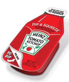 Heinz Dip and Squeeze Single Serve Ketchup - 27 gm. - 300 ...