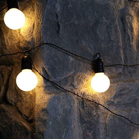 outdoor battery powered clear bulb festoon lights