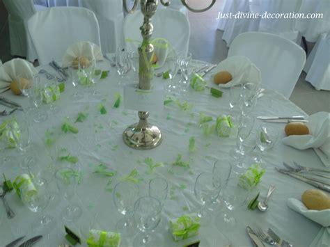 deco mariage vert anis et blanc mariage vert et blanc