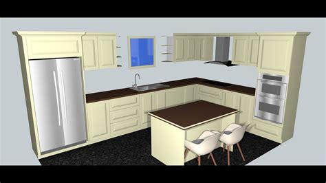 Kitchen Design In Sketchup #1  Youtube