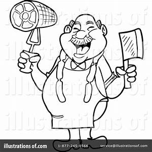 Butcher Clipart #1355590 - Illustration by LaffToon