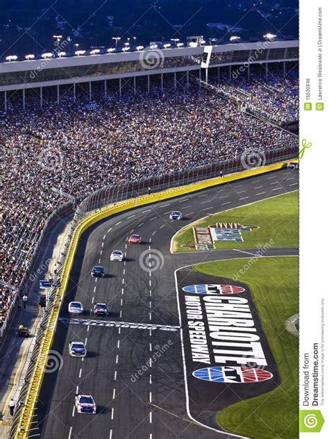 Nascar  Fans Watch At Charlotte Motor Speedway Editorial