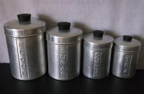 vintage metal kitchen canisters vintage metal kitchen canisters aluminum flour sugar