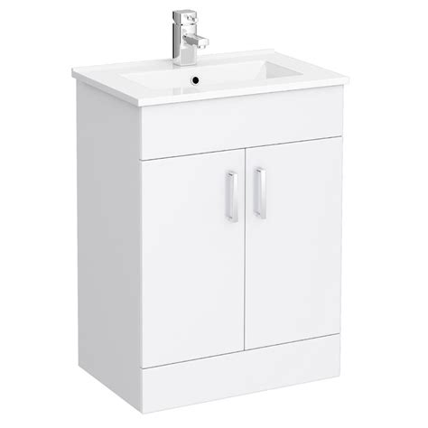 Modern Bathroom Sink Cabinets Uk by Turin Vanity Sink With Cabinet 600mm Modern High Gloss White