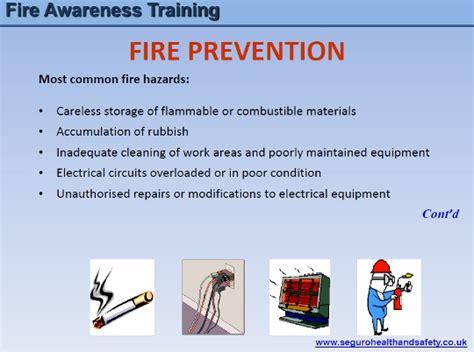 fire awareness training  seguro