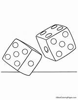 Dice Coloring Drawing Pages Drawings Getdrawings sketch template