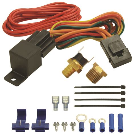 derale cooling products 16720 180 degree f fan switch thrmostat relay kit 1 8 quot and 3 8 quot npt