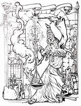 Coloring Merlin Pages Myths Legends Wizard Adults Printable Drawing Colouring Coloriage Halloween Magician Adult Sheets Wizards Witch Fairy Books Fantasy sketch template