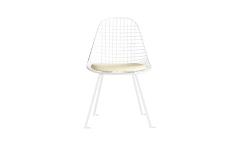 eames 174 4 leg wire chair with seat pad dkx 5 design