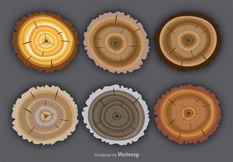 flat colorful tree rings   vector art stock