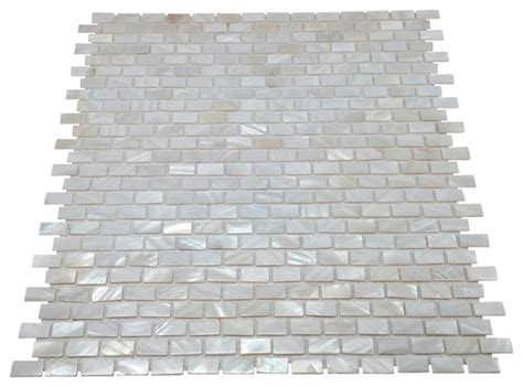 Of Pearl Mini Subway Tile by Of Pearl Mini Brick Oyster White Backsplash Mosaic