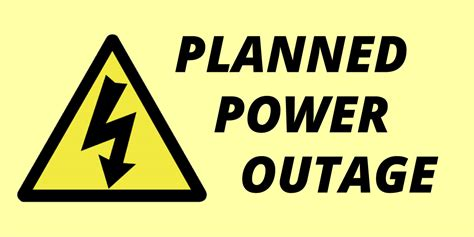 power outage planned  tomorrow