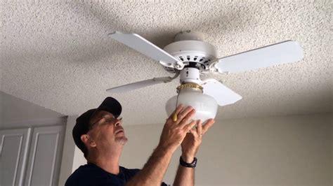 change bulb in ceiling fan how to change light bulb on ceiling fan www energywarden net