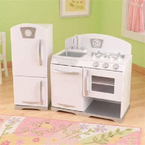 kidkraft vintage kitchen white new kidkraft 2pc retro kitchen white ebay