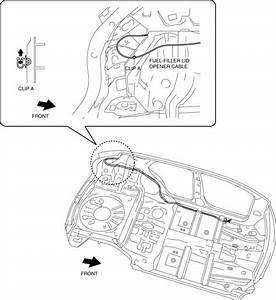 Mazda Cx-5 Service  U0026 Repair Manual - Fuel Filler Lid Opener Cable Removal  Installation