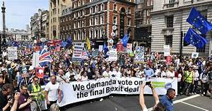 Thousands of Brexit Protesters March in London on ...