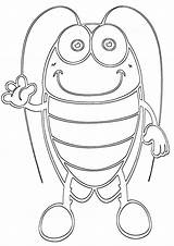 Cockroach Coloring Pages sketch template
