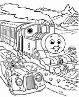 Coloring Pages Printable Thomas Train Sheets Tank Engine Friends Number sketch template