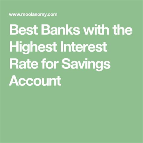 Best Savings Account Rates 25 Best Ideas About Highest Interest Savings Account On