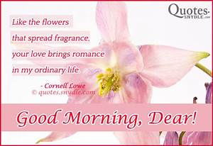 Sweet Good Morn... Sweet Mrng Quotes