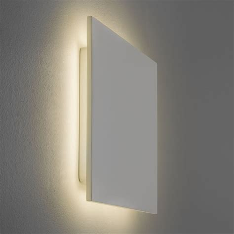 astro lighting 7610 eclipse square 300 led 2700k wall light