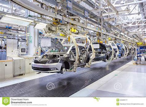 assembling cars  conveyor  editorial photography