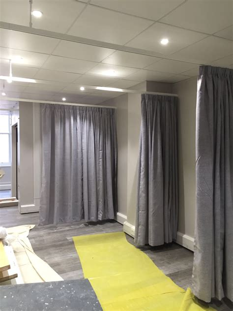 cubicle curtains nhs certified tracks  beauty rooms