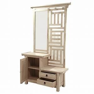 Miroir porte manteau for Vestiaire meuble d entree 12 porte manteau metal avec miroir agama la redoute