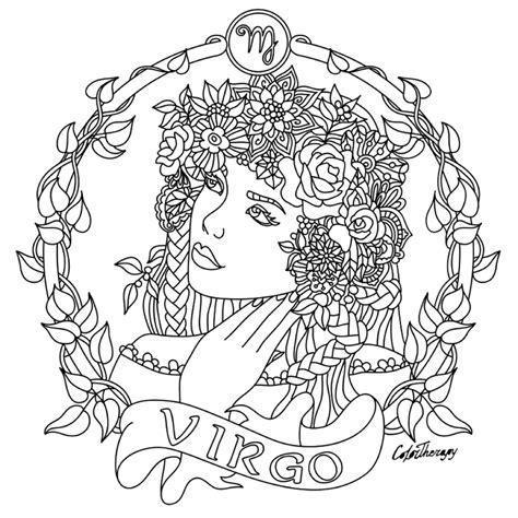 virgo zodiac beauty colouring page coloring fun