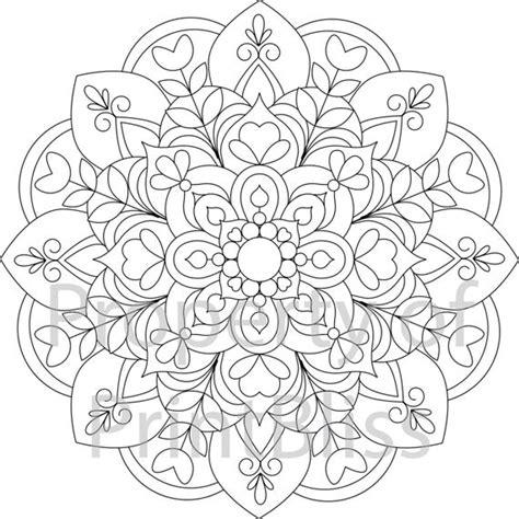 flower mandala printable coloring page