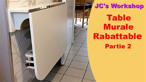 table cuisine rabattable murale comment faire une table de cuisine murale rabattable 2 2