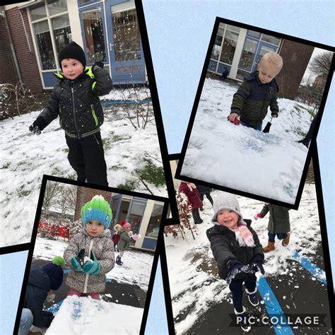 sneeuwpret op kinderdagverblijf ministek kind
