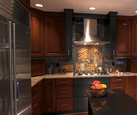 cherry wood cabinets kitchen cherry wood kitchen with charcoal maple kitchen craft 5381