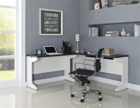 Ameriwood L Shaped Desk Assembly by Ameriwood Furniture Pursuit L Shaped Desk Bundle White Gray