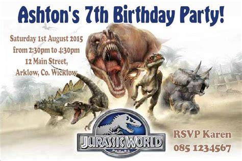 personalised jurassic world invitations