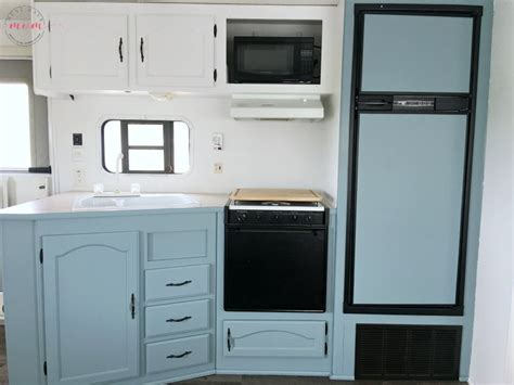 rv kitchen cabinets easy rv remodeling rv makeover reveal