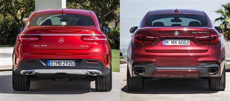 2015 bmw x6 m vs. Comparativa visual entre el Mercedes-Benz GLE Coupé y el ...