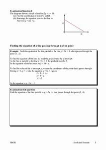 Topic 11 Straight Line Graphs