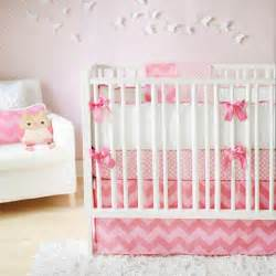 pink chevron crib bedding contemporary nursery arrivals inc