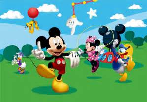 fototapete kinderzimmer mickey mouse clubhouse wallpaper
