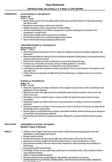 Technologist Resume by Surgical Technologist Resume Sle Bijeefopijburg Nl