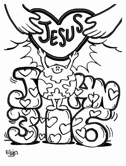 Coloring Pages John Jesus Children Valentine Printable