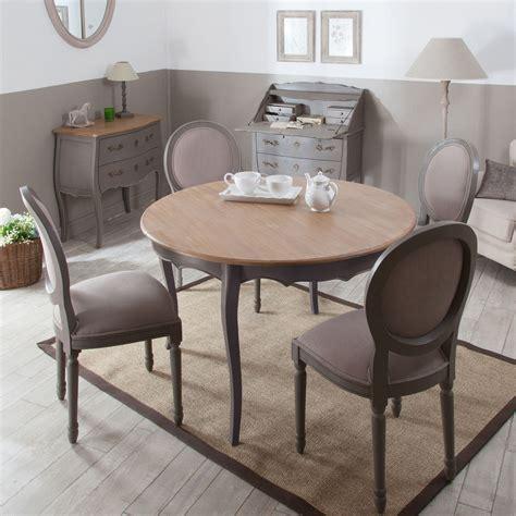 chaises table à manger table à manger à rallonge ronde en bois l120cm avec 4