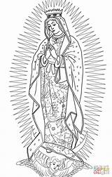 Guadalupe Coloring Lady Pages Virgen Printable Draw Supercoloring Virgin Mary Drawing Rosa Crafts Catholic Para Clipart Animals Drawings Tattoo Adult sketch template