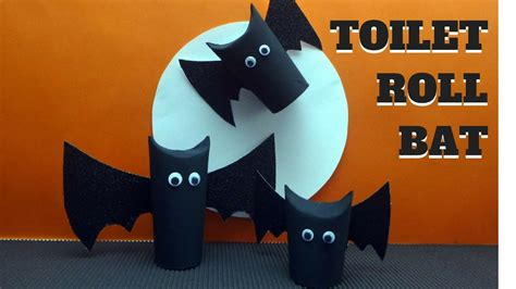 halloween crafts toilet paper roll bat toilet paper