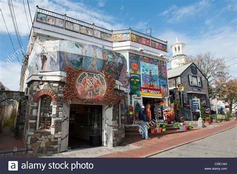 Various Shops In A Hippie Style, Provincetown, Cape Cod
